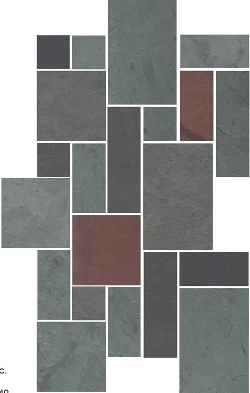 Slate floor patterns gurus floor for Vermont slate colors